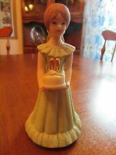 "Growing Up Birthday Girls Age 11~Brown Hair~Mint Dress~5 1/4"" (1982) Enesco"