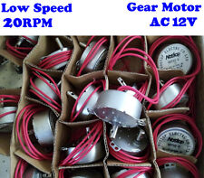 AC 12V 20RPM Low Speed Large Torque Mini Synchronous Gear AC Motor For Turntable