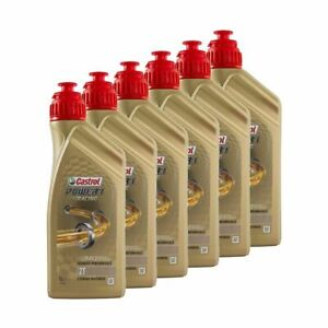 Castrol Power 1 Racing Motorcycle Oil 2T 2 Stroke Fully Synthetic - 6 Litre