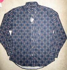 Ivy Crew Mens Navy Wrinkle resistant Long Sleeve Shirt Size -Medium NWT
