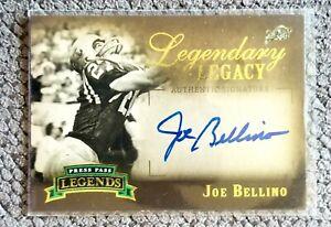 2007 PRESS PASS LEGENDS JOE BELLINO LEGENDARY LEGACY ON CARD AUTO #/397!