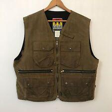 Kakadu Traders Wax Cotton Outback Vest Mens SZ XL Oilskin Waxed #B