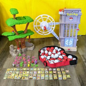2011 Jakks Pacific Pokemon Unova Region Playset and Mixed Tomy Figures cards