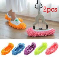 2pcs Mop Slippers Lazy Floor Foot Socks Shoes Quick Polishing Clean Floor. +