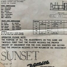 Gottlieb Sunset Pinball Machine Schematic