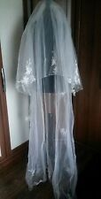 Amanda Wyatt Cathedral length ivory wedding bridal veil with butterfly detail