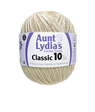 Aunt Lydia's Classic Crochet Thread Size 10 Value Size 1000 Yards White-Natural