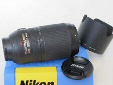 Nikon AF-S 70-300mm f:4.5-5.6 G VR zoom lens with hood/caps, MINTY US SELLER