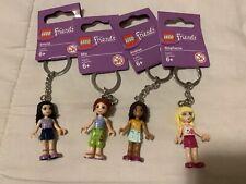 4 Friends Set Lego Minifigure Keychains Mia, Emma, Andrea & Stephanie