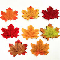 100PCS Artificial Fall Silk Leaves Cute Wedding Favor Autumn Maple Leaf Decor