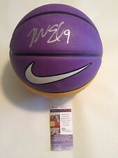 Nick Van Exel Autographed Full Size Los Angeles Lakers Logo Basketball JSA COA