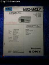 Sony Service Manual MDX 6&xlp Mini Disc changer (#6282)