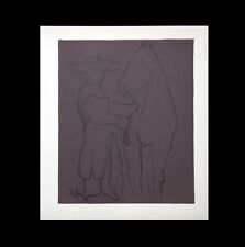 P. Picasso LINOGRAVURE Limited Ed Plate Marked WOVEN pp +Custom Archival FRAME