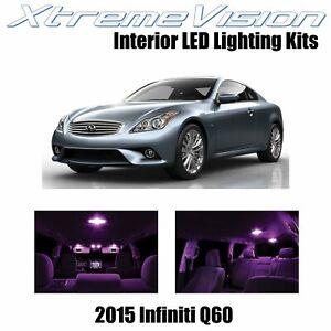 XtremeVision Interior LED for Infiniti Q60 2015+ (9 PCS) Pink