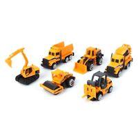 6pcs Engineering Dump Model Mini Toys Set Diecast Alloy Construction Car Truck