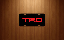 TRD Vehicle Front License Plate Auto Car NEW Tag Toyota Tundra Tacoma 4runner