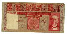 Netherlands ... P-50 ... 25 Gulden ... 1941 ... *F+*