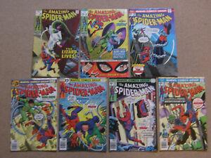 "Lot 7 Comics VO import USA""THE AMAZING SPIDER-MAN""MARVEL1969/76(STAN LEE,BUSCEMA"