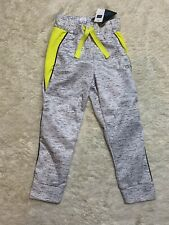 Boys GAP Athletic Pants Yellow/Gray With Drawstring Waist Size XS 4-5 NWT