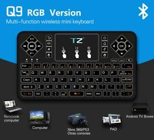 Best Mini Bluetooth Wireless Keyboard with Touchpad Mouse Colorful Backlit Kj