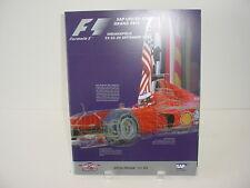 Indianapolis F1 Official 2000 Program Formula 1