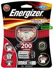 Energizer Vision HD LED Headlight 200 Lumen Head Torch Lamp 3 AAA battery