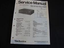 Original Service Manual Technics SU-X101 SU-X301