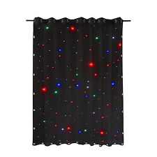 3x2m LED Stage Drape Star Clot Starlight Backdrop Curtain for Wedding RGBW DMX