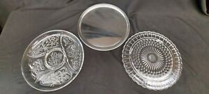 1 Stainless steel & 2 glass serving platters