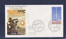 enveloppe 1er jour  avion fusée  salon air et espace  93 Le Bourget     1979