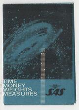 1960s SAS Scandinavian Airlines TIME MONEY WEIGHTS MEASURES Brochure AVIATION