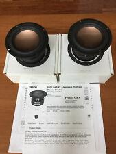 "HiVi B4N 4"" Bronze/Aluminum Midbass Shielded Speaker Nib Pair 297-429"
