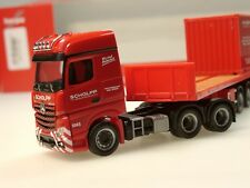 Herpa 308786 h0 camiones Mercedes arocs ballasttrailer-remolcarse contenedores Scholpp