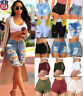 Coolest Women High Waisted Jeans Shorts Ripped Destroyed Denim Pants Hot pants