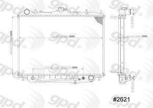 Radiator Global Parts Distributors 2621C