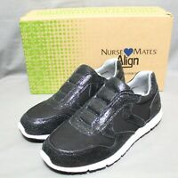 NURSE MATES womens slip-on slip-resistant comfort shoes size 8.5 M black NEW