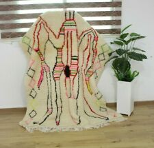 Vintage Moroccan Rug Hand Woven AZILAL /Berber Carpets-  6'/4'11''