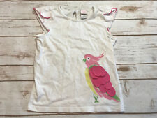 Janie & Jack Girls 5 Capri Island Winged Parrot Top White Pink T Shirt Tee Bird