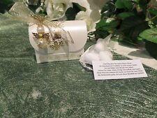 Gastgeschenk-Truhe mit Herz-Schutzengel gold Kommunion Konfirmation Bomboniere