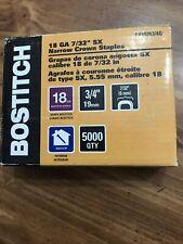 New listing Bostitch Sx50353/4G Crown Finish Staples 18Ga 5,000 Pack