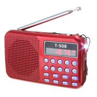 T508 Mini Portable LED Light Stereo FM Radio MP3 Music Player TF USB Speake S5T3