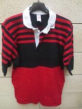 Maillot rugby vintage style STADE TOULOUSAIN TOULOUSE coton années 80 shirt L