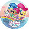 Shimmer and Shine Customised Edible REAL Icing Image Birthday Cake Toppers