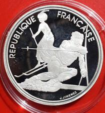 """France-Frankreich: 100 Francs 1990 Proof Silber, KM# 983, #F 1478, """"Albertville"""""""