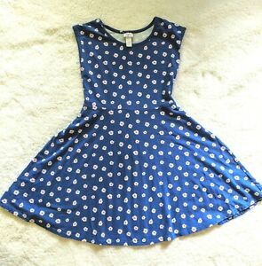 Justice dress floral flower size 14 girl's runs small blue pink daisy USA seller