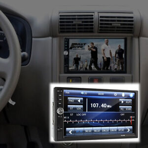 7 inch Touch Screen FM Bluetooth Radio Audio Stereo Car Video Player + HD Camera
