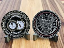 "MOTORCYCLE CHALLENGE COIN ""TO MY BIKER BROTHER ANYTIME ANYWHERE"" COLLECTORS COIN"