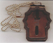 NY/NJ Police Detective Badge CutOut Neck Hanger w/Chain - (Badge Not Included)