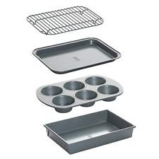 Non-Stick Toaster Oven Bakeware Set 4-Piece Carbon Steel Premium Quality New