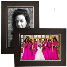 4x6/6x4 Black Embossed with SILVER FOIL trim Cardboard Photo Easels - Pack of 25